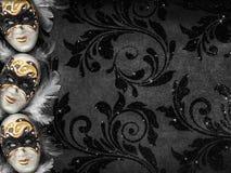 Fondo oscuro de la mascarada del estilo del vintage Fotografía de archivo libre de regalías