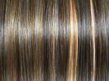 Fondo oscuro de la textura del pelo del punto culminante Imágenes de archivo libres de regalías