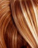Fondo oscuro de la textura del pelo del punto culminante Imagen de archivo