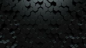 Fondo oscuro de los hexágonos ilustración del vector