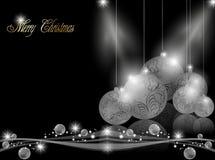 Fondo oscuro elegante de la Navidad Fotografía de archivo