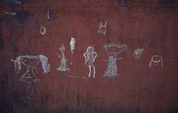 Fondo oscuro Garabato del ` s de los niños Imagenes de archivo