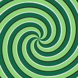 Fondo ottico di illusione di moto Superficie multipla verde di spirale Immagine Stock