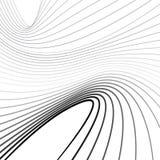 Fondo ottico di vettore di onda di arte di Mobious in bianco e nero Immagine Stock