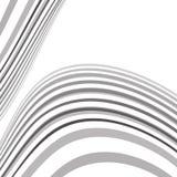 Fondo ottico di vettore di onda di arte di Mobious in bianco e nero Fotografia Stock Libera da Diritti