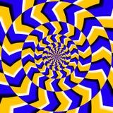 Fondo ottico psichedelico di vettore di illusione di rotazione illustrazione di stock