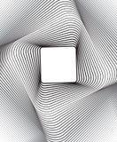 Fondo ottico quadrato di arte in bianco e nero Fotografie Stock Libere da Diritti