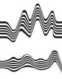 Fondo ottico vibrante mobious astratto di vettore di onda Immagini Stock