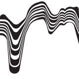 Fondo ottico vibrante mobious astratto di vettore di onda Immagini Stock Libere da Diritti
