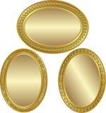 Fondo oval de oro Fotografía de archivo