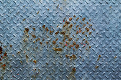 Fondo oxidado azul de la pared del metal Fotografía de archivo libre de regalías