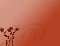 Fondo oxidado con las flores Imagen de archivo