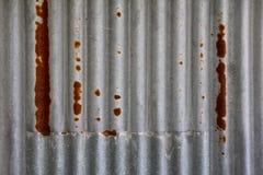 Fondo oxidado de la pared del metal Fotografía de archivo libre de regalías