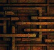 Fondo oxidado de los tubos Fotos de archivo