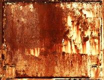 Fondo oxidado del marco del metal Fotos de archivo libres de regalías