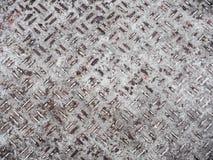 Fondo oxidado resistente del metal con no el patte repetidor del resbalón Fotos de archivo