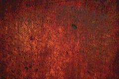 Fondo oxidado rojo del metal Fotografía de archivo libre de regalías
