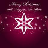 Fondo púrpura abstracto de la Navidad con las estrellas de la papiroflexia Foto de archivo