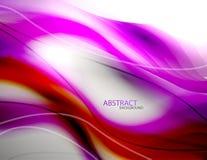 Fondo púrpura abstracto de la onda Imágenes de archivo libres de regalías