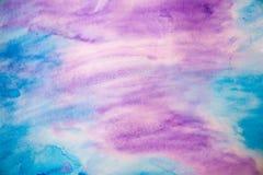 Fondo púrpura abstracto del anfitrión coloreado del aguazo Fotografía de archivo