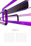 Fondo púrpura, blanco y negro abstracto stock de ilustración