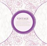 Fondo púrpura con texturas de la flor Fotografía de archivo libre de regalías