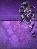 Fondo púrpura con una máscara Foto de archivo