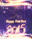 Fondo púrpura de Año Nuevo Foto de archivo libre de regalías