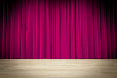 Fondo púrpura de la cortina Imágenes de archivo libres de regalías