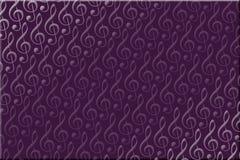 Fondo púrpura de la música Foto de archivo