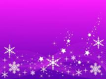 Fondo púrpura de la Navidad ilustración del vector