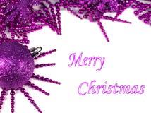 Fondo púrpura de la Navidad Imagen de archivo libre de regalías