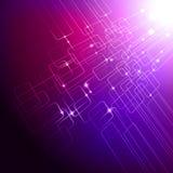 Fondo púrpura de la tecnología stock de ilustración