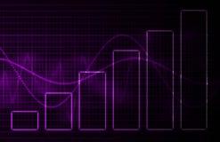Fondo púrpura de la tecnología de la ciencia médica ilustración del vector