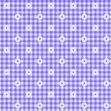 Fondo púrpura de la tela de la guinga Foto de archivo libre de regalías