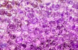 Fondo púrpura de las bolas del gel Fotografía de archivo