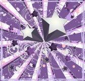 Fondo púrpura de las estrellas fugaces Fotos de archivo libres de regalías