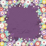 Fondo púrpura de las flores del color, vector Imagen de archivo libre de regalías