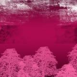 Fondo púrpura de los árboles del otoño Imagen de archivo libre de regalías