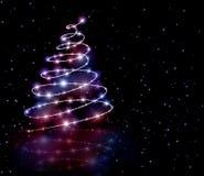 Fondo púrpura del árbol de la Navidad Imagen de archivo libre de regalías