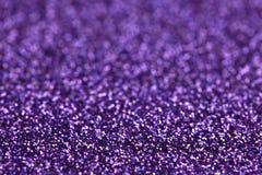 Fondo púrpura del brillo de la chispa Textura del extracto del día de fiesta, de la Navidad, de las tarjetas del día de San Valen Fotografía de archivo