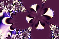 Fondo púrpura del extracto de la estrella Fotografía de archivo libre de regalías