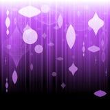 Fondo púrpura del ornamento de Navidad Fotos de archivo libres de regalías