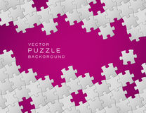Fondo púrpura del rompecabezas del vector Fotos de archivo libres de regalías