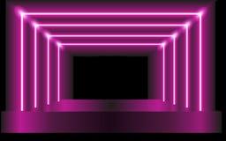 Fondo púrpura del vector - escena abstracta o portal futurista stock de ilustración