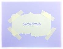 Fondo púrpura que hace compras Fotografía de archivo libre de regalías
