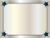 Fondo pagina con stile del tre-cavo del bordo del nastro. Immagini Stock