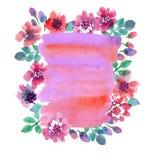 Fondo pallido delicato dell'acquerello di colore illustrazione vettoriale