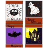 Fondo-palos de Halloween, castillo asustadizo en el fondo de un l Imágenes de archivo libres de regalías