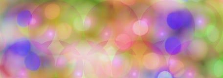 Fondo panorámico coloreado de Cicles Foto de archivo